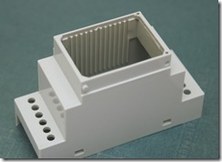 Корпус на DIN-рейку, 2 модуля