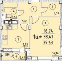 План квартиры от застройщика