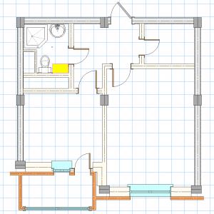 План квартиры в VectorWorks