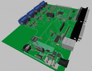 3D-модель платы в DipTrace