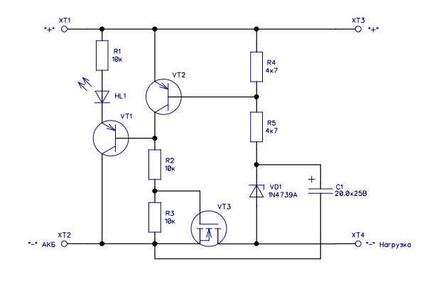 Защита аккумулятора от разряда (BMS)