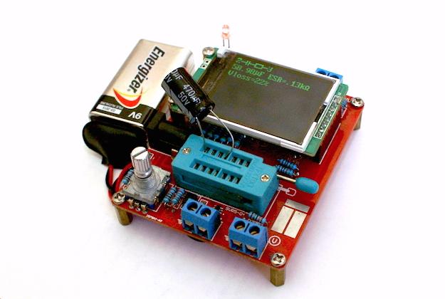 Проверяем конденсатор транзистор-тестером